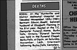 Roehl Obituary